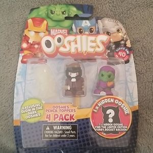 NWT Marvel Ooshies 4 pack pencil toppers